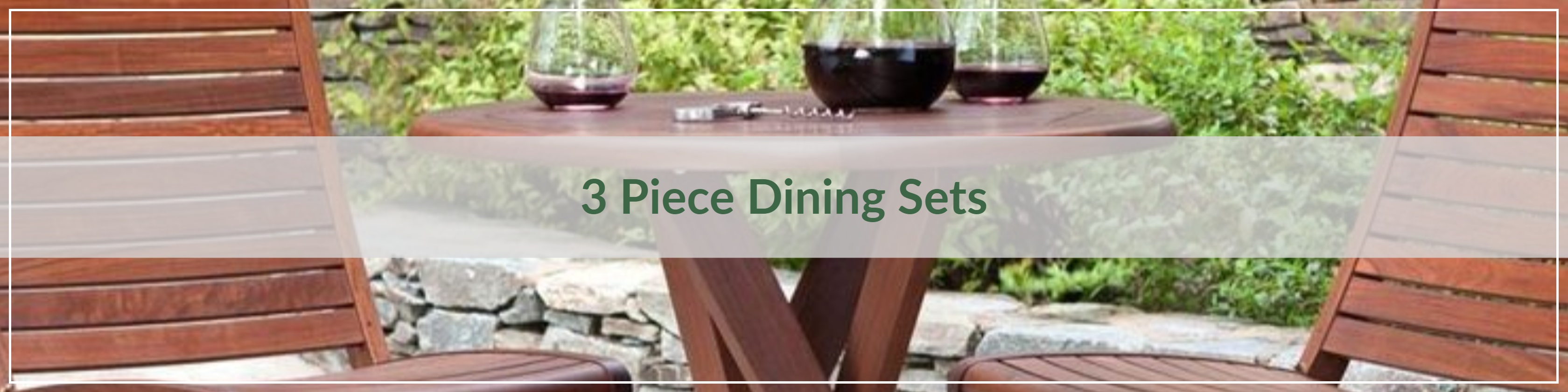 3 Piece Outdoor Dining Sets