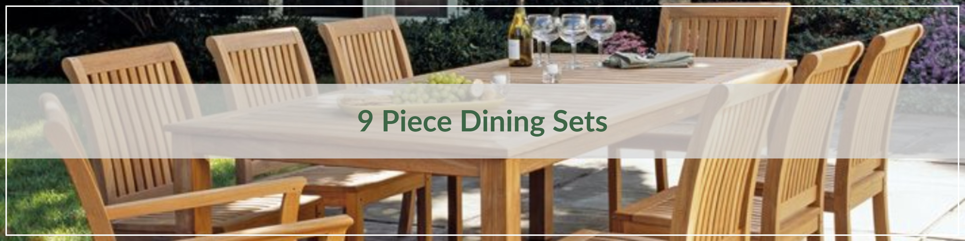 9 Piece Outdoor Dining Sets