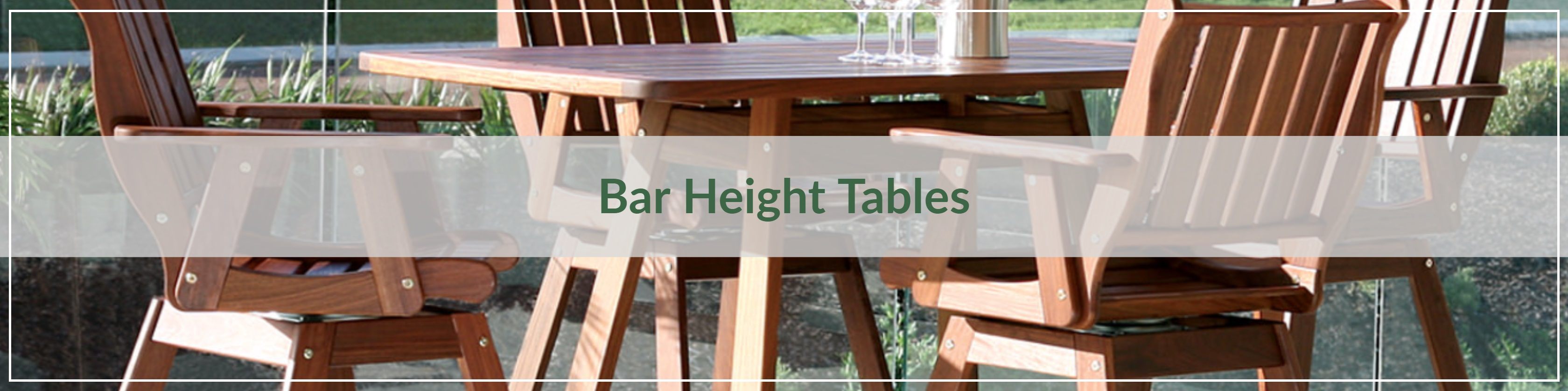Outdoor Bar Height Tables