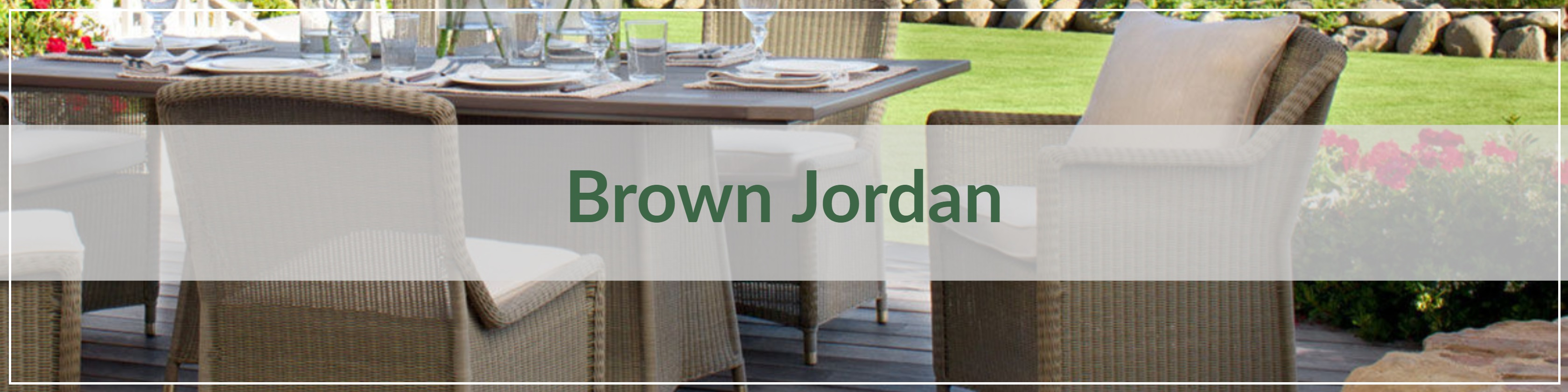 Brown Jordan Resin Wicker Outdoor Dining