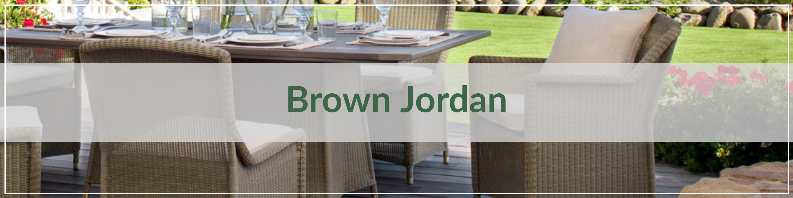 Brown Jordan Resin Wicker Outdoor Dining