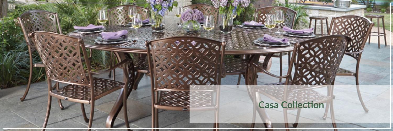 Woodard Casa Cast Aluminum Outdoor Dining