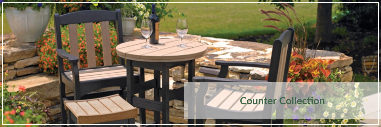 Breezesta Poly Wood Outdoor Counter Dining