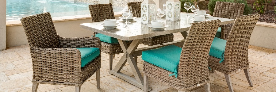 Wicker Outdoor Dining Furniture - Dreux by Ebel