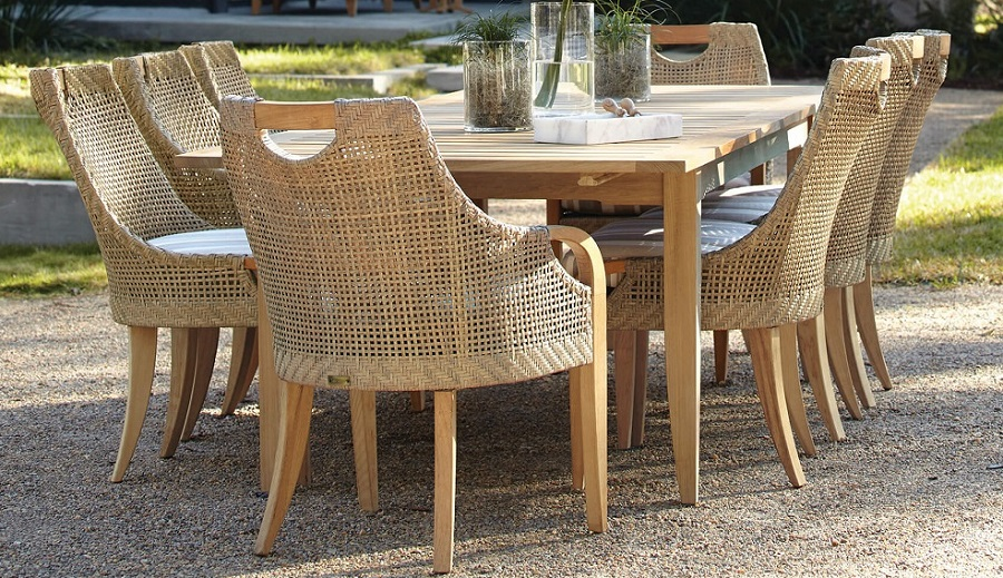 Wicker and Teak Outdoor Dining - Edgewood by Lane Venture