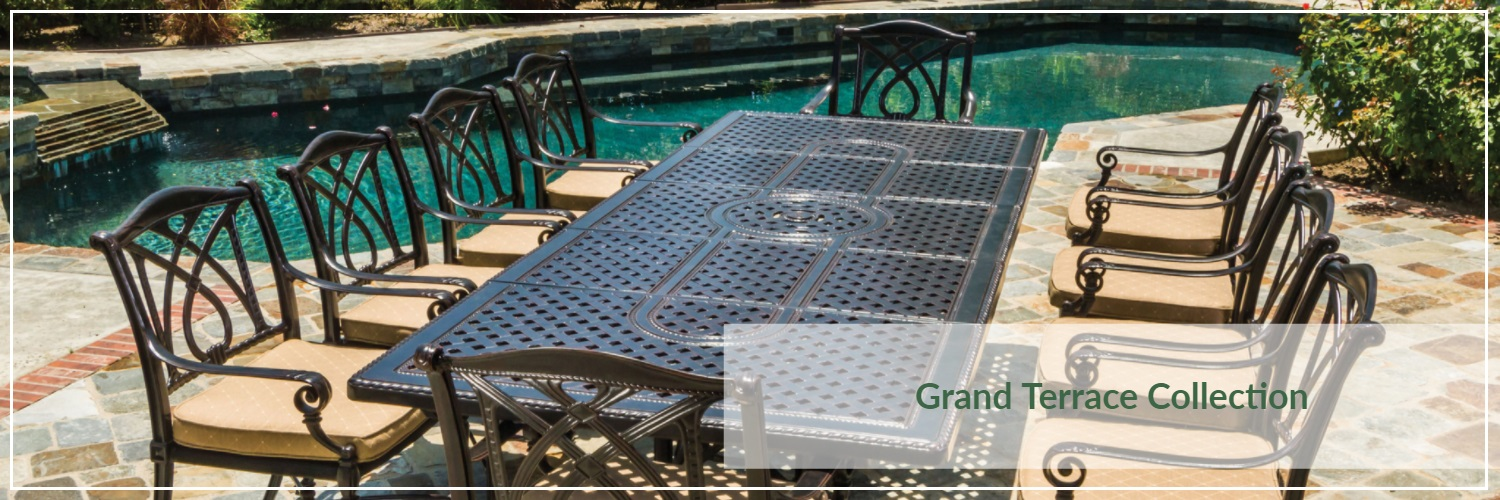 Gensun Grand Terrace Cast Aluminum Outdoor Dining