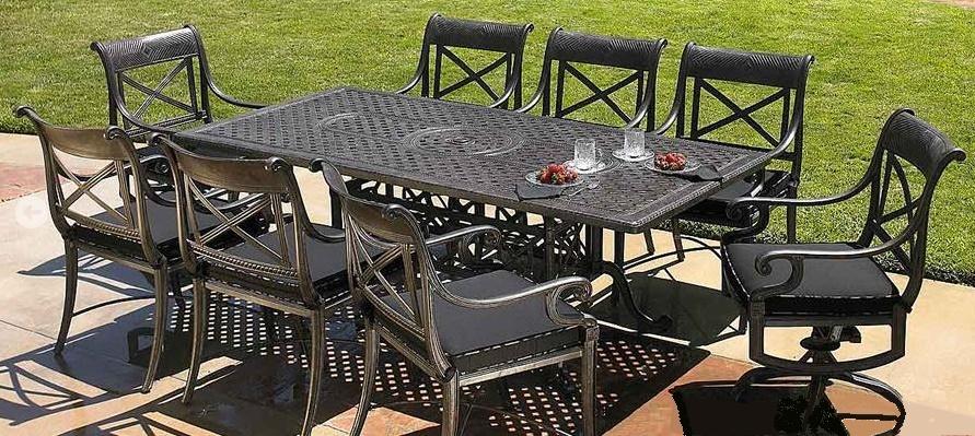 Gensun Grand Terrance Outdoor Dining - Cast Aluminum