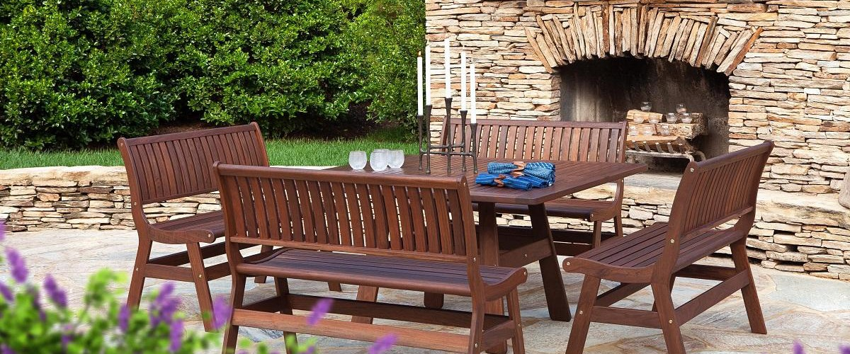 Jesnesn Leisure is one of our favorite wood patio furniture brands
