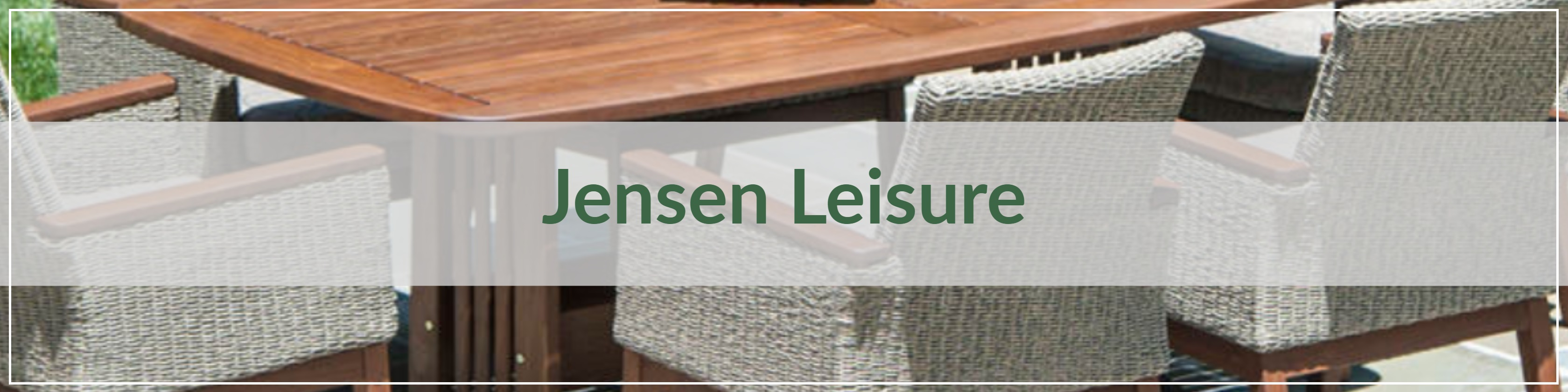 Jensen Leisure Resin Wicker Dining