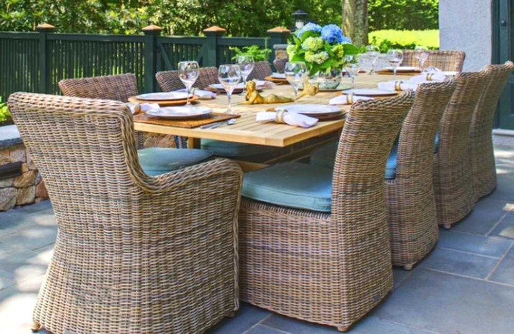 Wicker Outdoor Dining by Kingsley Bate