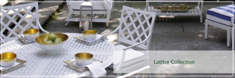 Summer Classics Lattice Cast Aluminum Outdoor Dining