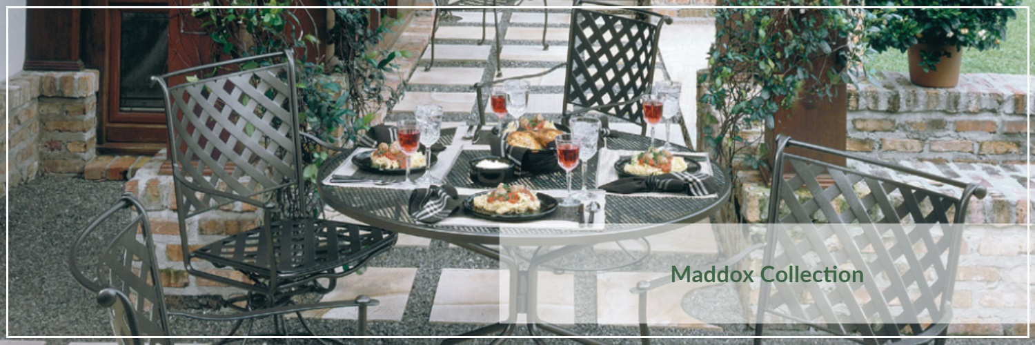 Woodard Maddox Wrought Iron Outdoor Dining