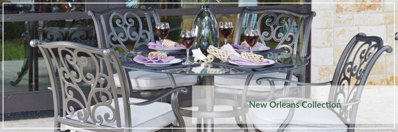 Woodard New Orleans Cast Aluminum Outdoor Dining