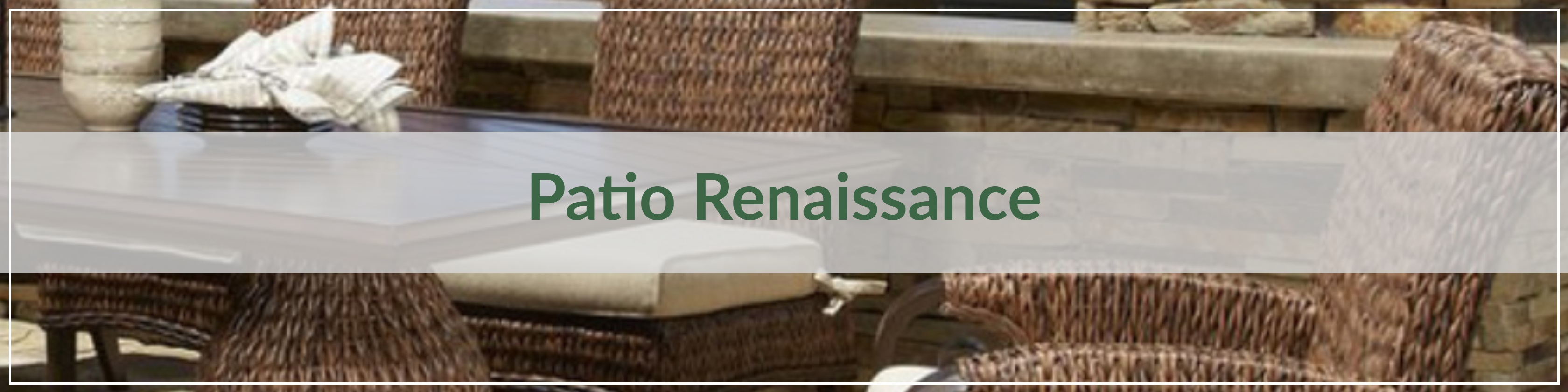 Patio Renaissance Resin Wicker Dining