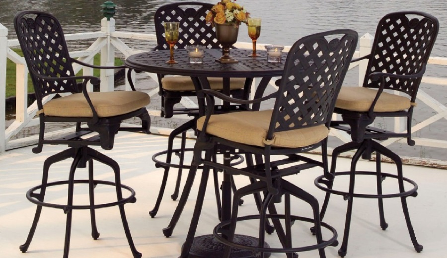 The Provance Bar Height Aluminum Furniture Grouping by Summer Classic