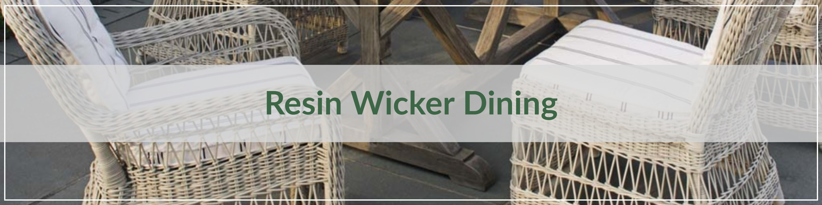 Resin Wicker Dining