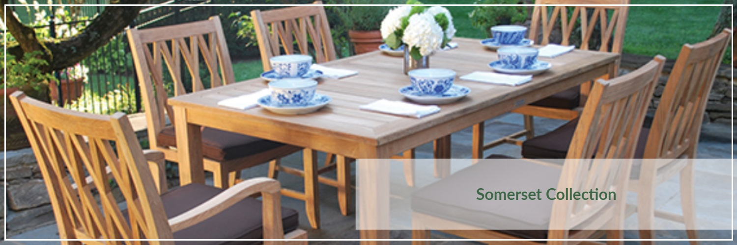 Kingsley Bate Somerset Teak Outdoor Dining