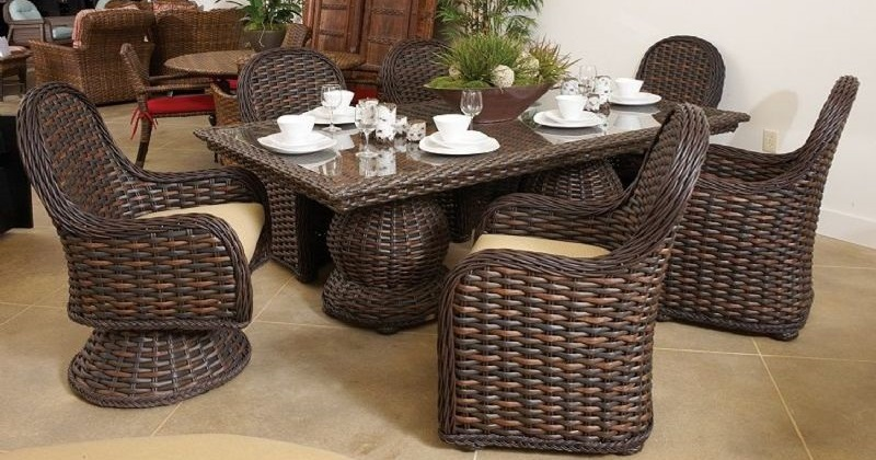 Shop The South Hampton Wicker Outdoor Dining Furniture from Lane Venture