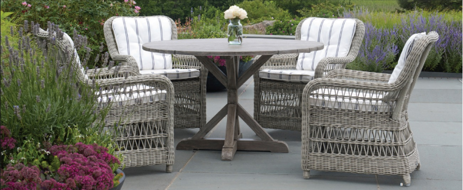 Kingsley Bate Outdoor Wicker Dining Furniture - The Southampton Collection