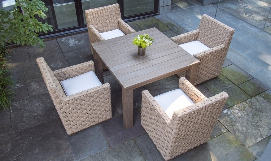 St Barts Woven Wicker Dining Furniture by Kingsley Bate