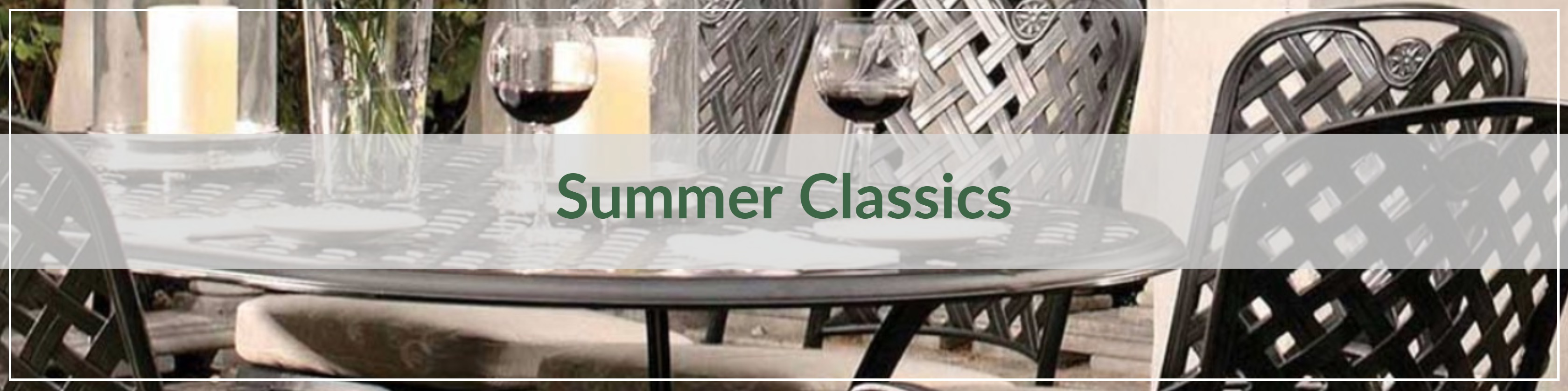 Summer Classics Cast Aluminum Outdoor Dining