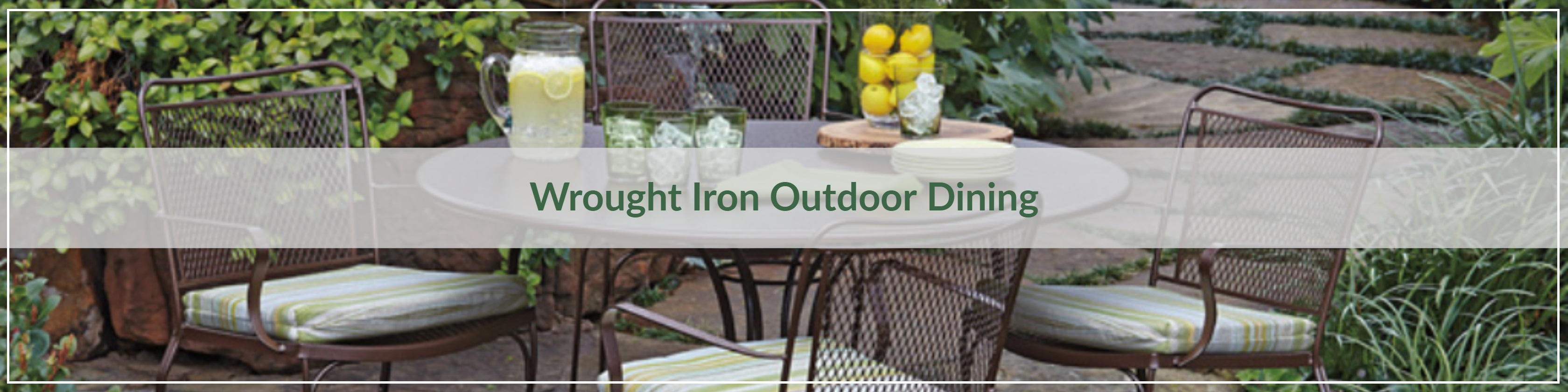 Wrought Iron Outdoor Dining